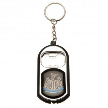 Newcastle United Bottle Opener Keyring with Torch
